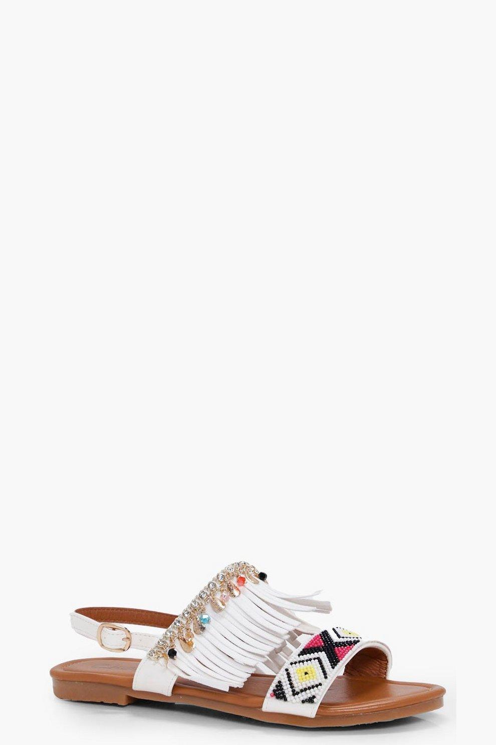 1a0434dfde59f8 Mai Fringe   Embellished Sandal