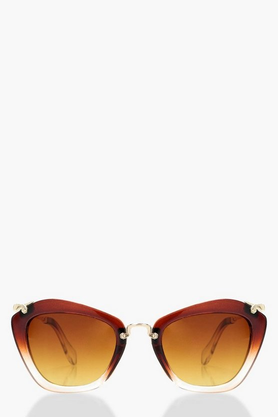 Louisa Oversized Metal Trim Sunglasses