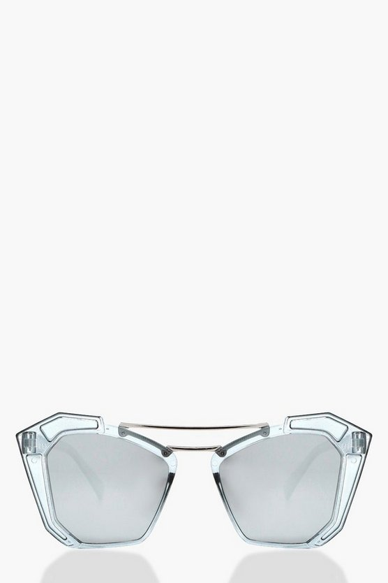 Jess Statement Double Brow Sunglasses