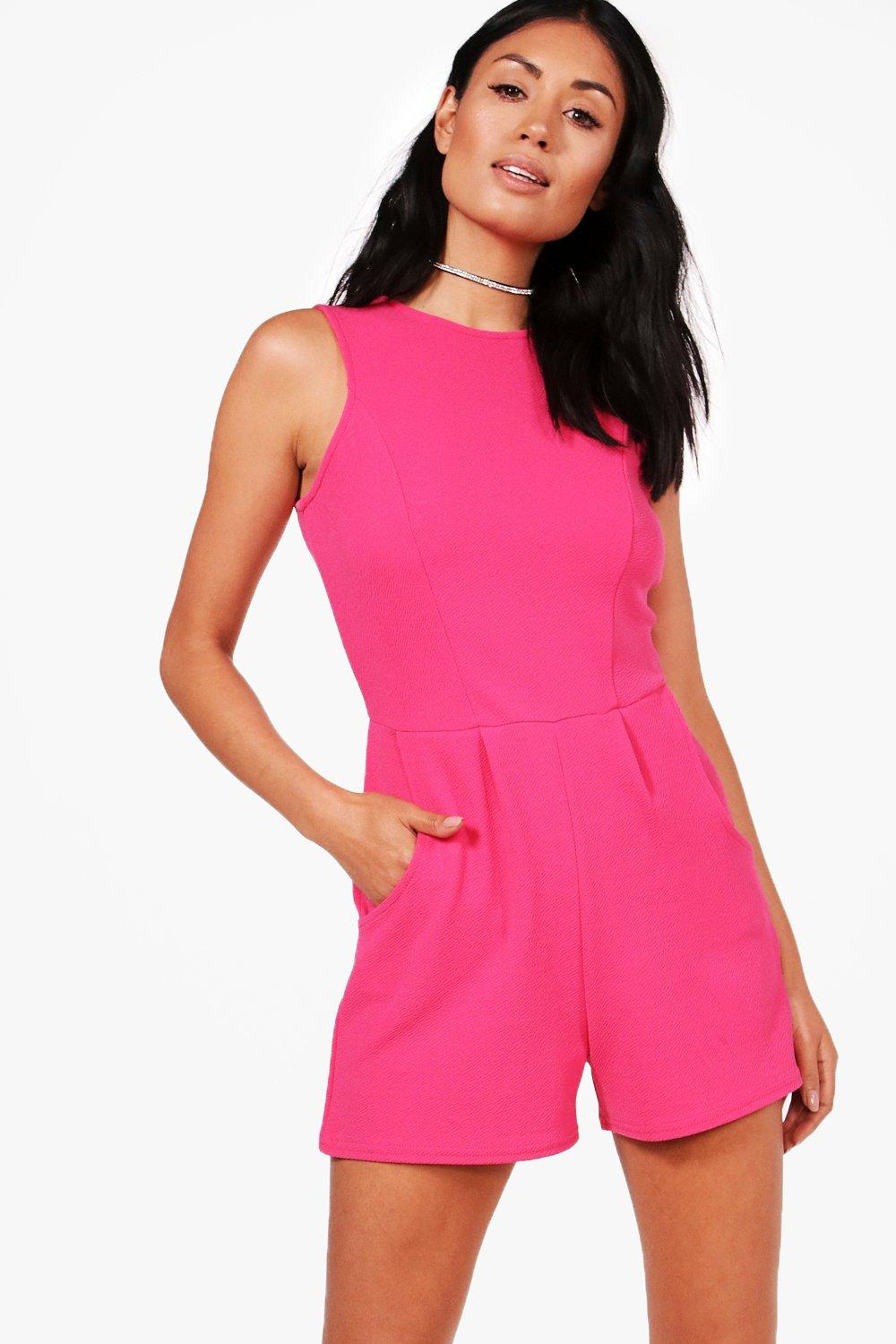 b0140ce79340 Crepe Sleeveless Playsuit. Crepe Sleeveless Playsuit. Hover to zoom
