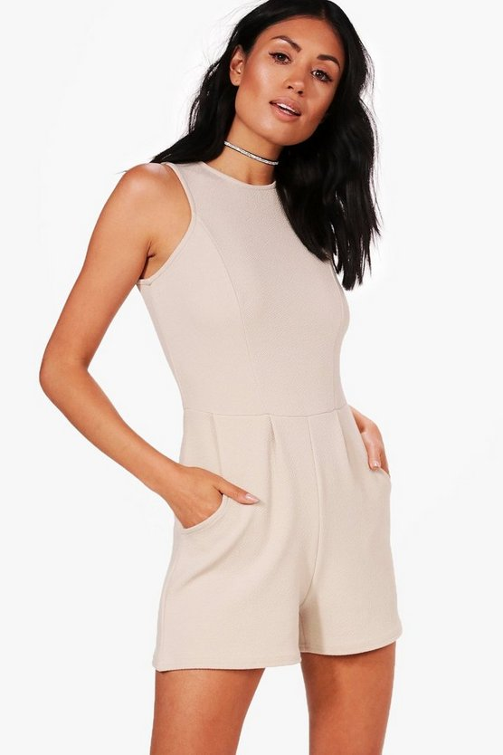 Crepe Sleeveless Playsuit