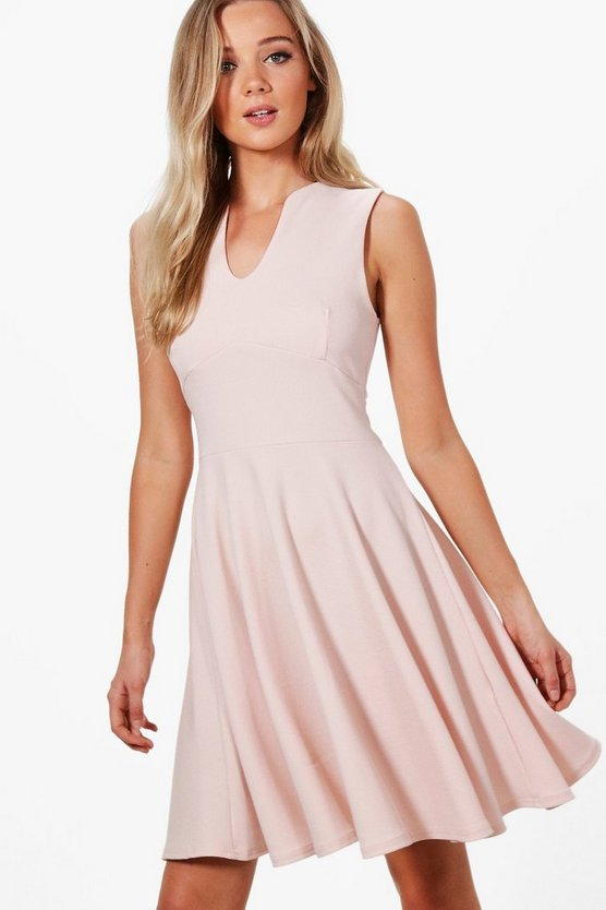 Millie Fitted Skater Sleeveless Midi Dress