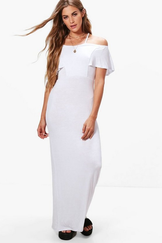 Cross Front Off Shoulder Maxi Dress