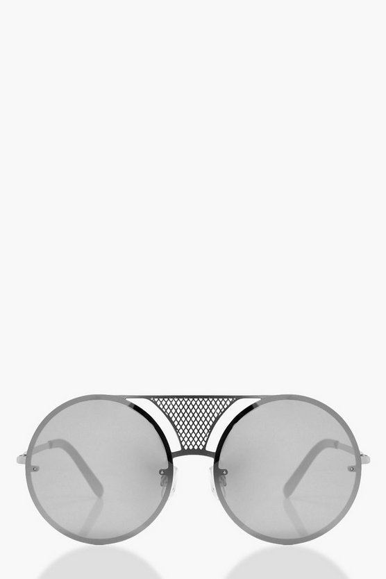 Violet Metal Bridge Detail Sunglasses