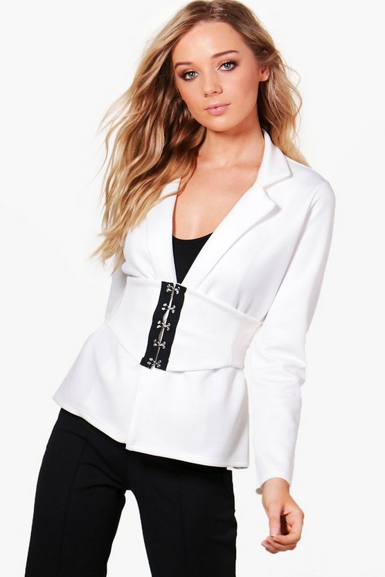 Kareena Corset Belt Tailored Blazer