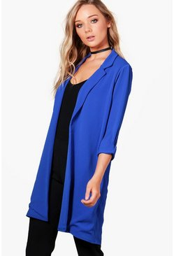 Womens Cobalt Anna Collared Tailored Duster