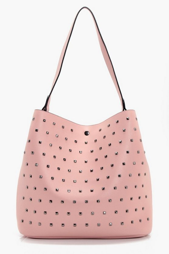 Hollie Square Stud Detail Day Bag