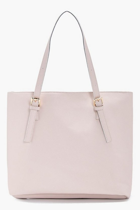 Sophie Crosshatch Buckle Tote