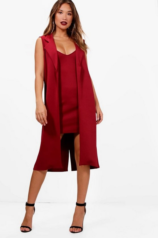 Connie Bodycon Dress & Duster Co-ord