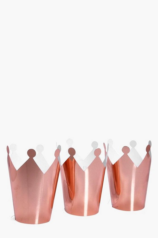 Hen Party Rose Gold Crown 5 Pack