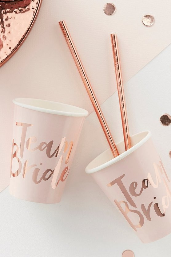 Team Bride Hen Party Cups 8 Pack