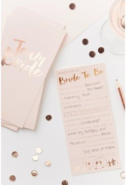 Ginger Ray Bride Advice Cards 10Pk, Rose gold, MUJER