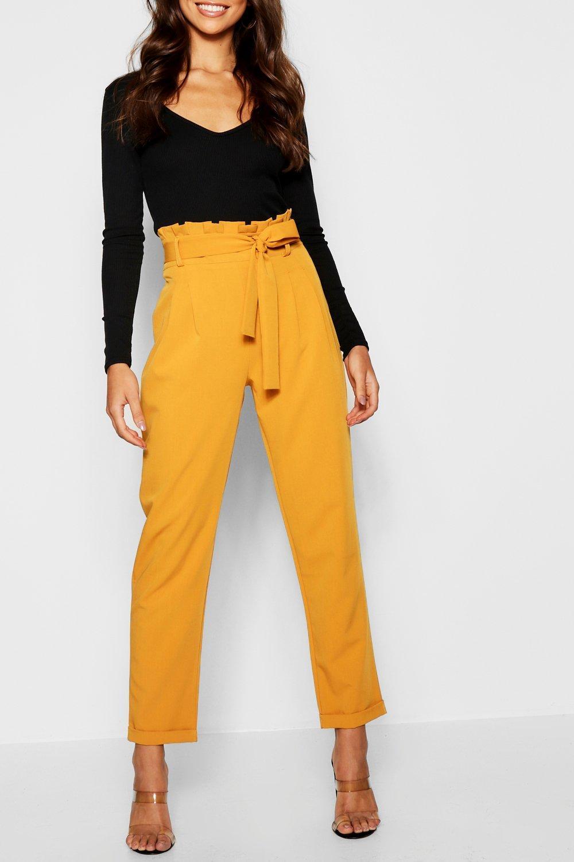 Waist Paperbag Tailored Premium khaki Trouser y5qYRwRd