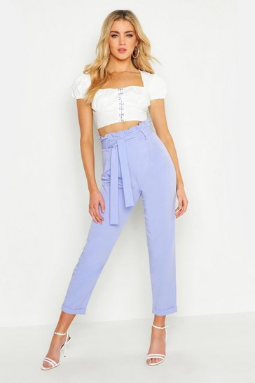 Lilac Premium Paperbag Waist Tailored Trouser