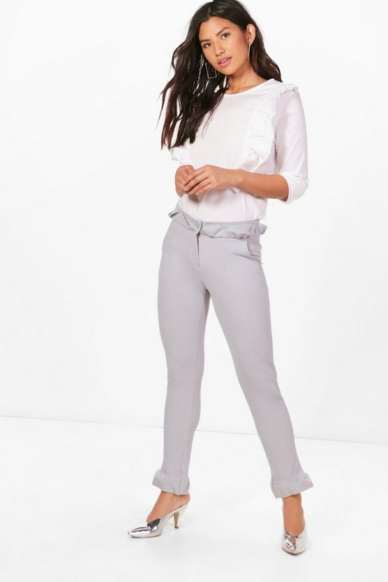Ruffle Tailored Trouser