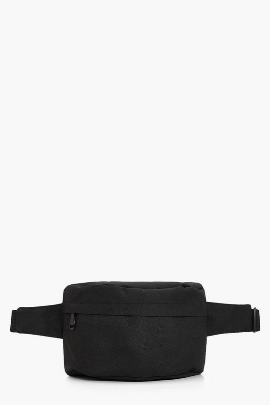 Womens Black Black Canvas Bumbag