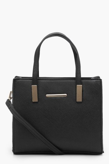 Black Small Tote Cross Body Bag