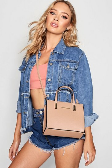 Mink Small Tote Cross Body Bag