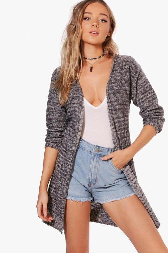 Madeleine Marl Soft Knit Long Cardigan