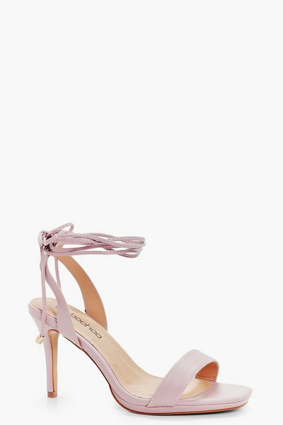 Naomi Wide Fit Wrap Strap Two Part Sandals | Boohoo