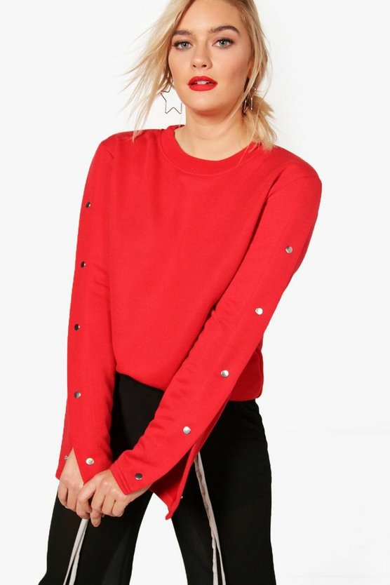 Sarah Popper Sleeve Oversized Sweat