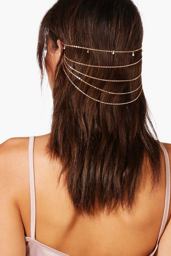 Heidi Diamante Detail Multi Row Headchain