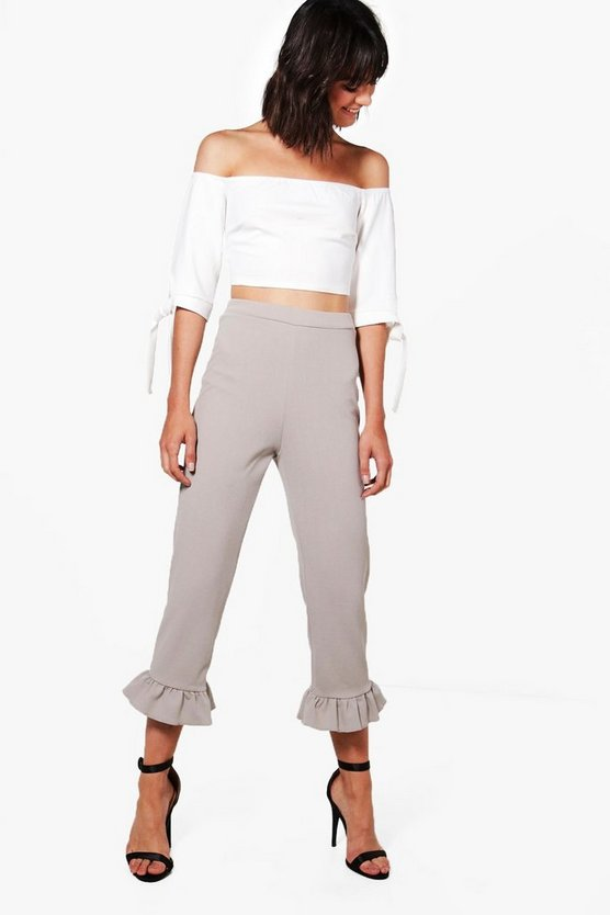 Hannah Crop & Frill Trouser Co-ord