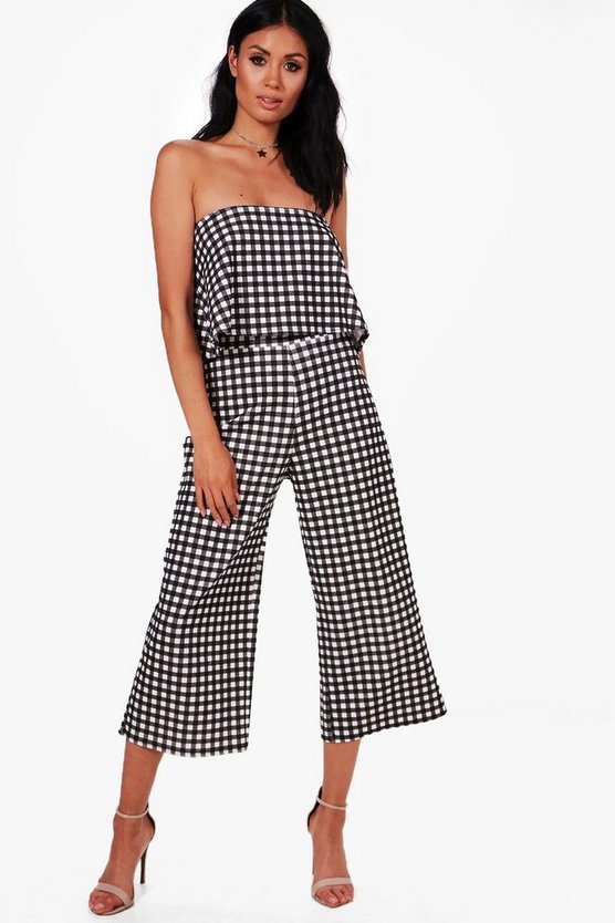 Gingham Bandeau & Culotte Co-ord