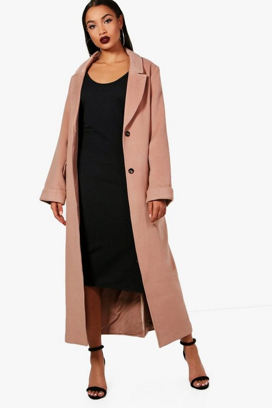 Oversized Maxi Wool Look Coat