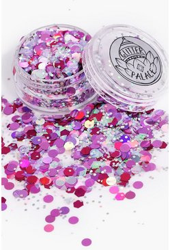 Womens Purple Glitter Palace Glitter Pot