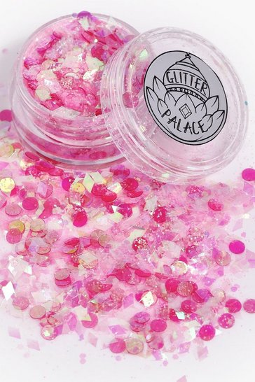 Womens Pink Glitter Palace Tony Glitter Pot