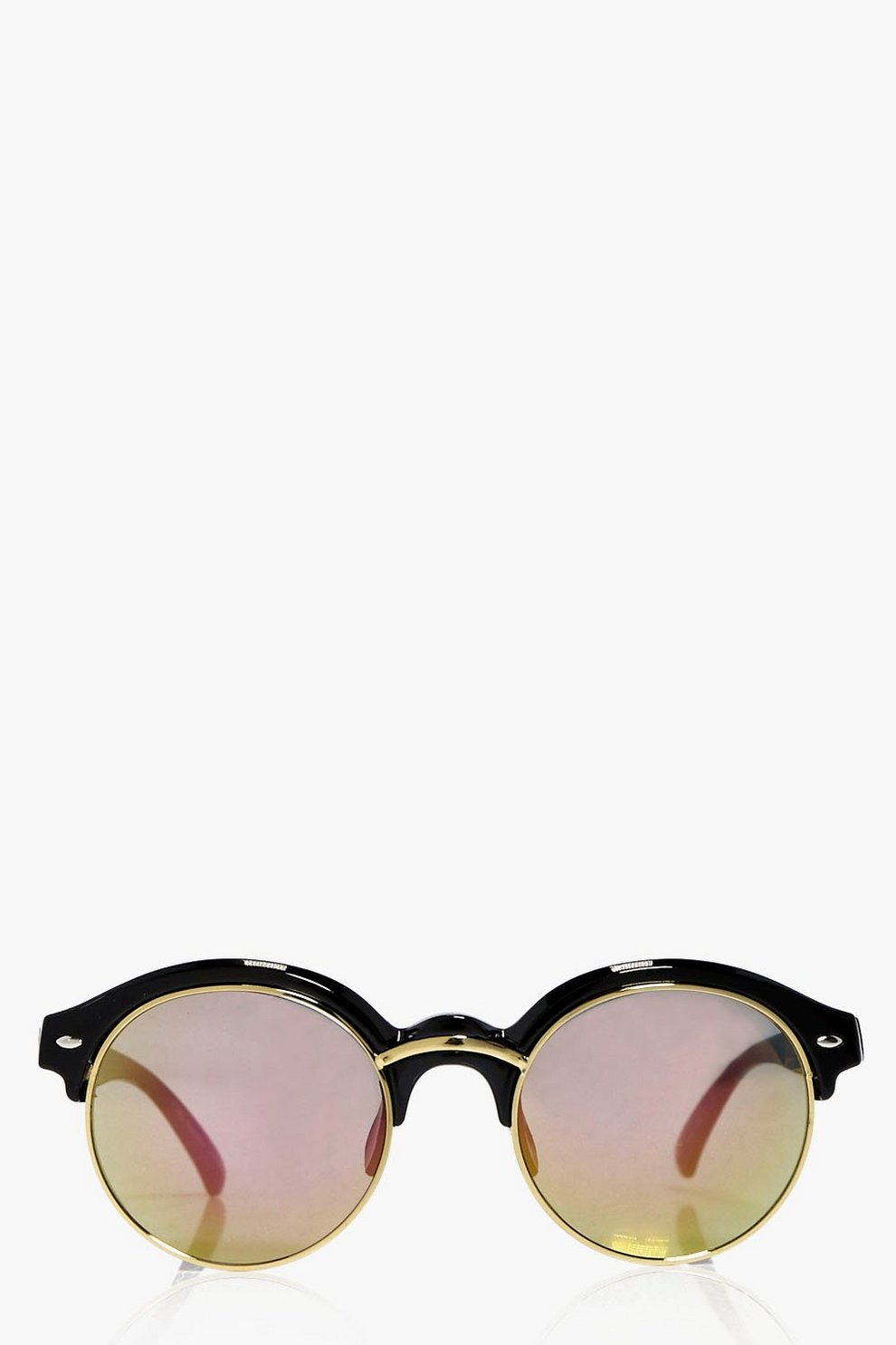 0f69ba177944f Ruby Half Frame Round Sunglasses