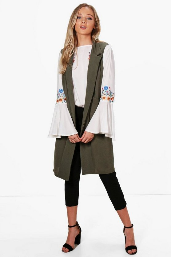 Ali Woven Sleeveless Pocket Duster