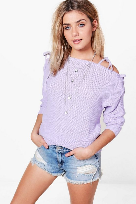 Hannah Lace Up Shoulder Jumper