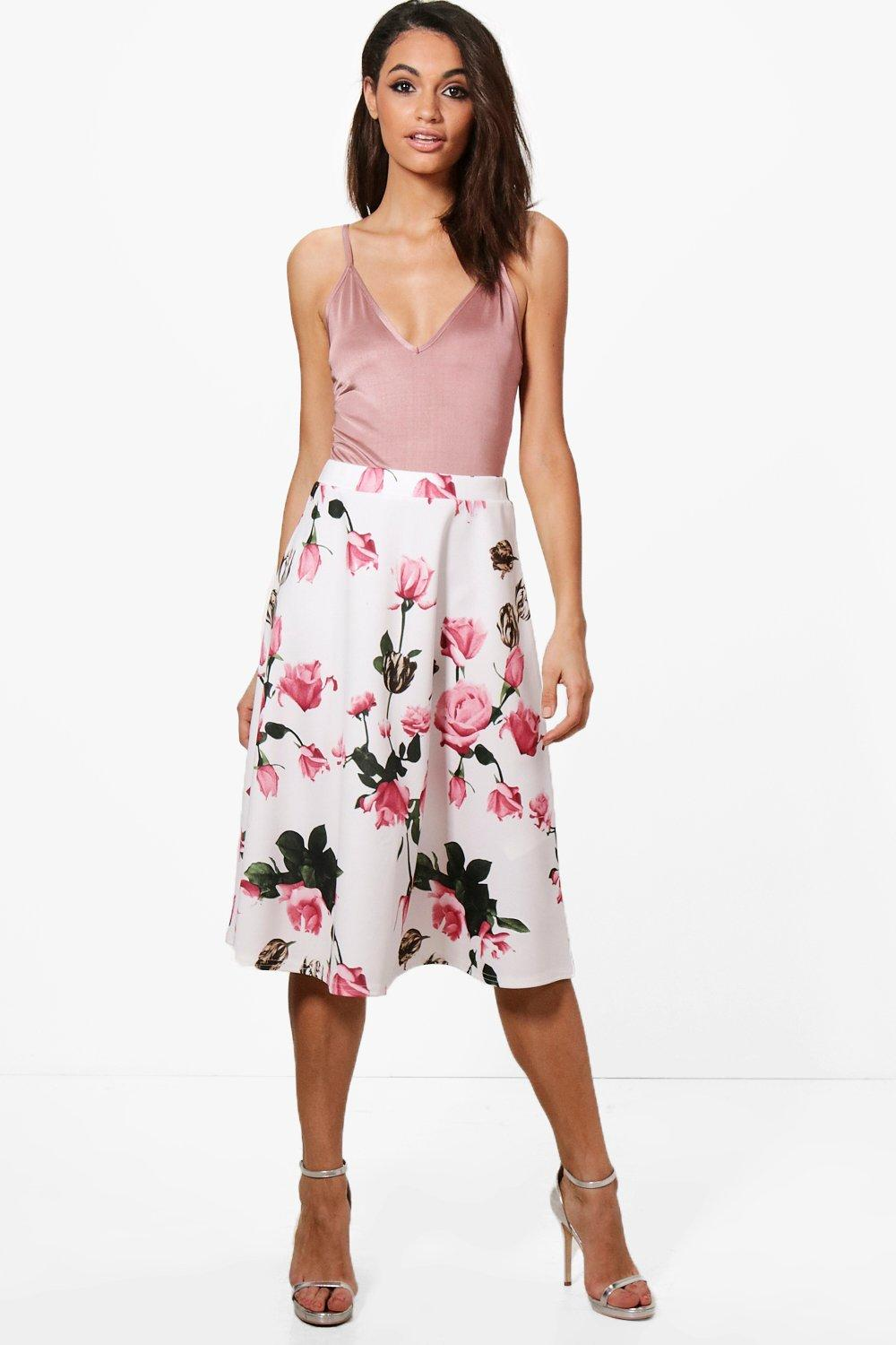 9ac8ca23d Boohoo Arianna Plain Full Circle Midi Skirt