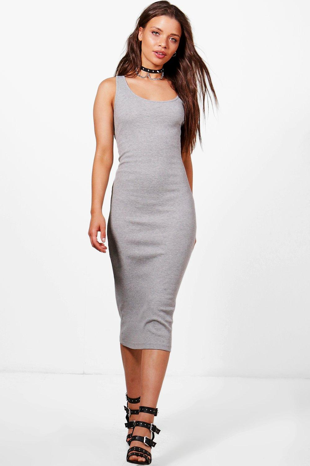 5eb0d01ab1df Sophie Ribbed Jersey Midi Dress. Hover to zoom