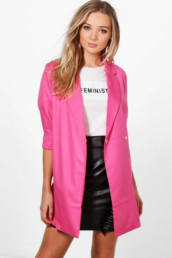 Harriet Woven Tailored Longline Blazer