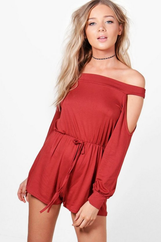 Amelia Off Shoulder Playsuit