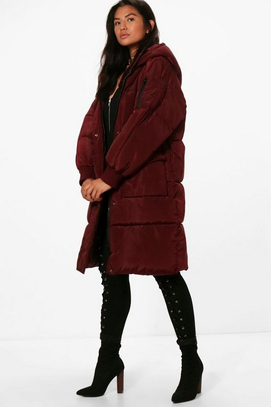Zoe Boutique Longline Padded Quilted Coat