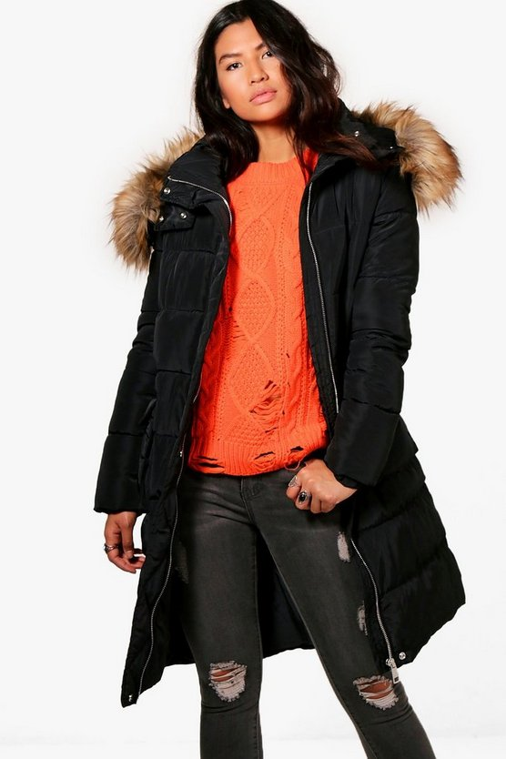 Boutique Longline Padded Coat