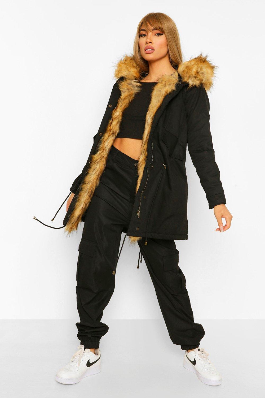 black Fur Boutique Trim Freya Parka Faux 0qXXRO