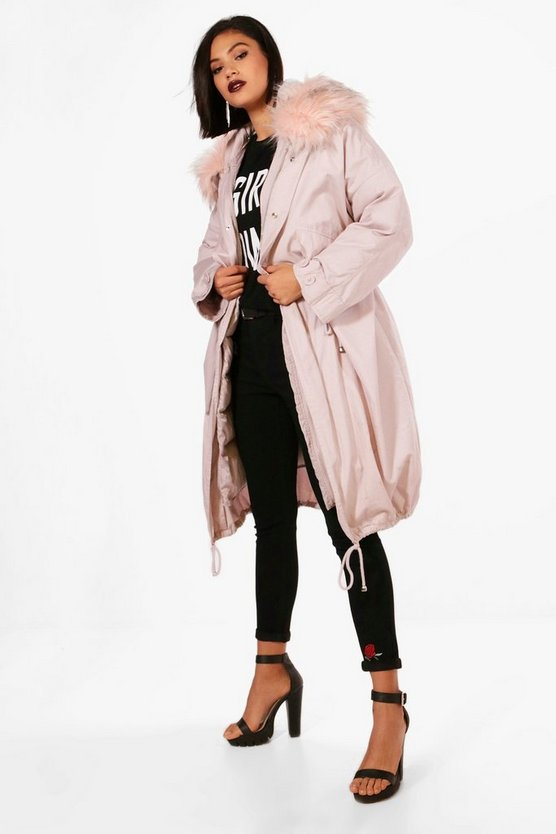 Ivy Parka With Faux Fur Trim & Detachable Lining