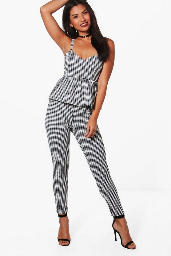 Millie Gingham Frill Crop & Trouser Co-ord