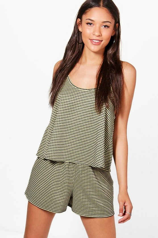 Womens Hebe Gingham Cami & Shorts Co-ord