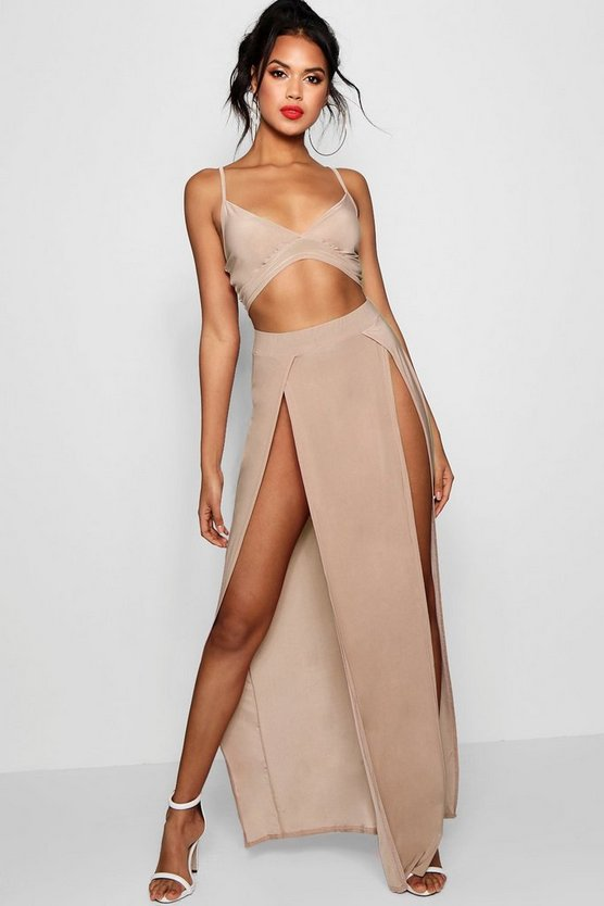Slinky Bralet & Split Maxi Skirt Co-ord