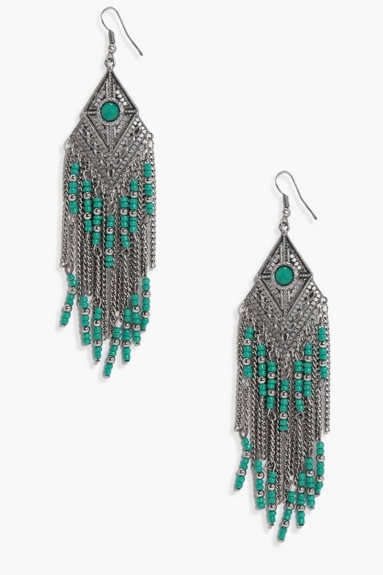 Katie Statement Beaded Boho Earrings