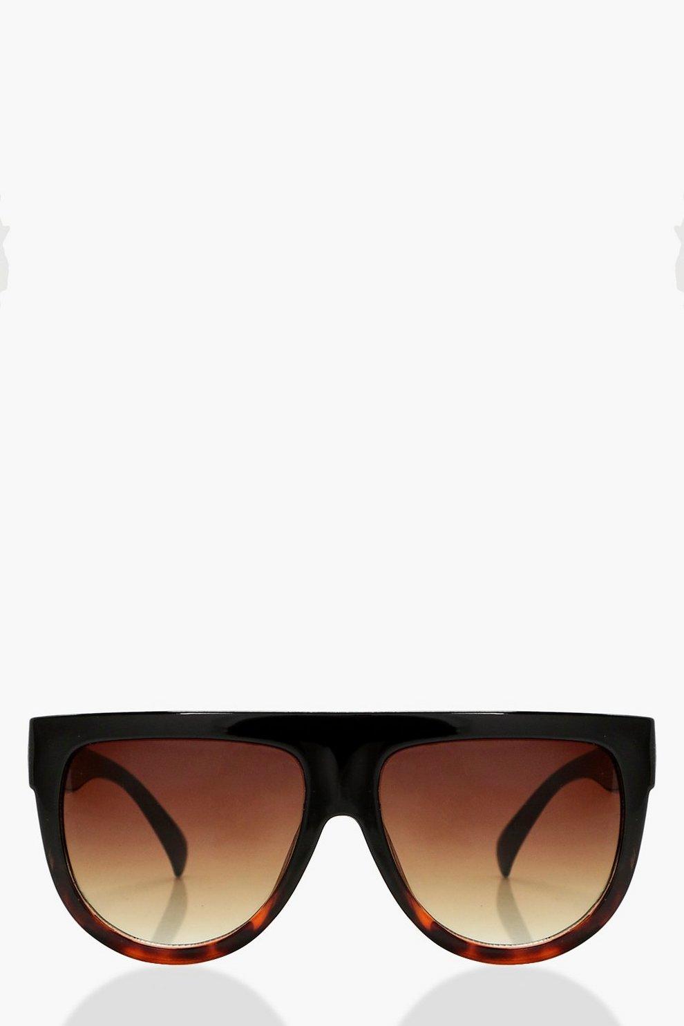 2307f2a972 Lea Flat Top Tortoiseshell Oversized Sunglasses