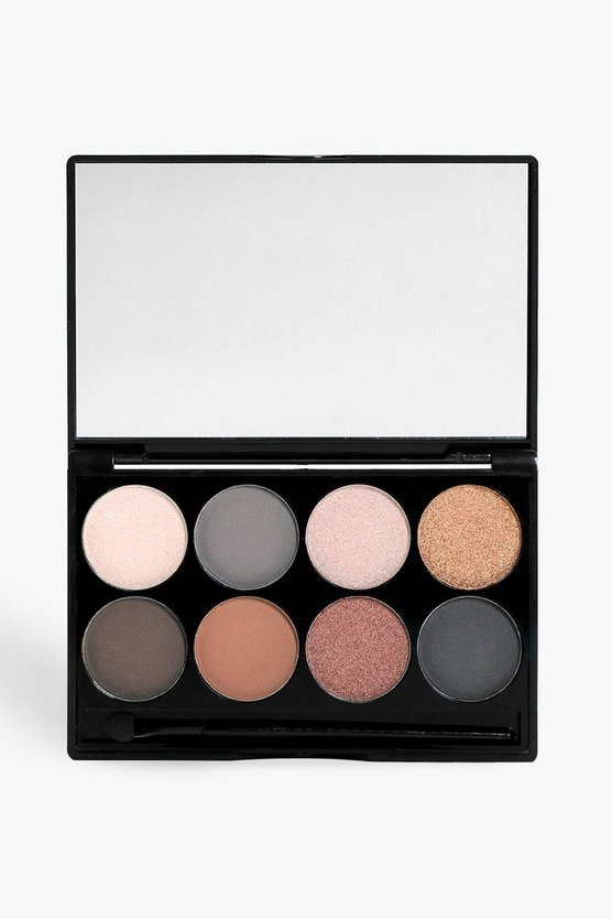 Womens Nude Boohoo 8 Shade Bronze Eye Palette