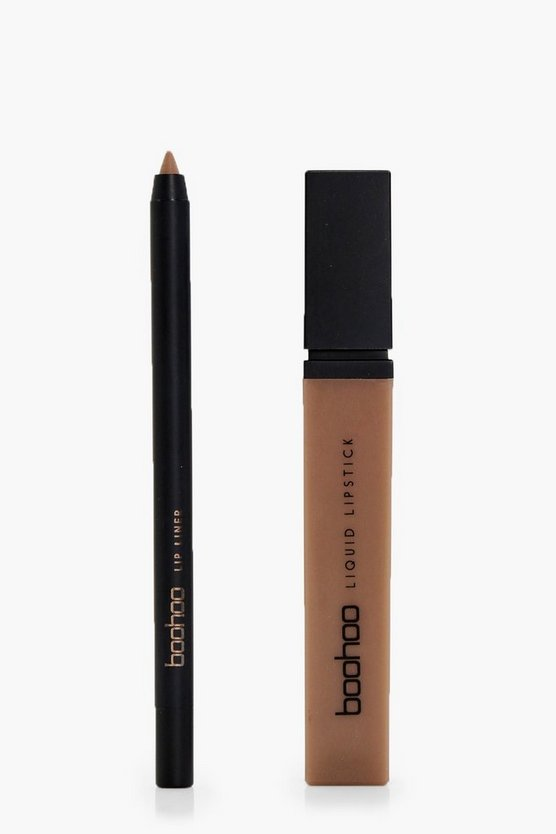 Boohoo Matte Lip & Liner Kit