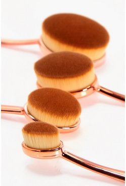 Womens Rose gold Boohoo 4 Piece Precision Brushes